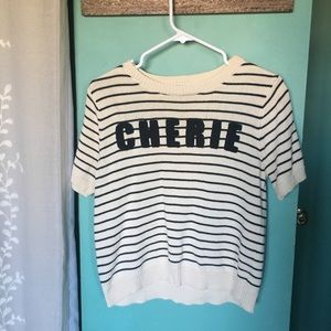 Cherie Striped Sweater By Forever 21